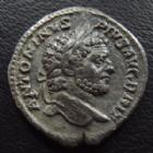 Photo numismatique  Monnaies Empire Romain CARACALLA Denier, denar, denario, denarius CARACALLA, denier Rome en 212, PM TR P XV COS III PP, Salus assise, 18 mm, 2,48 g, RIC 195 TTB