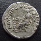 Photo numismatique  Monnaies Empire Romain CARACALLA Denier, denar, denario, denarius CARACALLA, denier Rome en 212, PM TR P XV COS III PP, Salus assise, 18 mm, 2,48 g, RIC 195 TTB