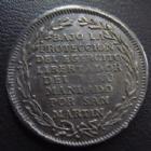 Photo numismatique  Monnaies Monnaies étrangères Pérou, Peru Perou, médaille en argent PEROU, PERU, médaille en argent, demi peso, Lima 1821, Indépendance, San Martin, 28 mm, 10,59 grms, Fonrobert8998, P.SUPERBE