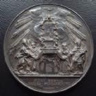 Photo numismatique  Monnaies Médailles Etrangères Vatican, papal states Medaille Papale en argent VATICAN, PIE IX, PIUS IX, medaille en argent 1860, Fidei Regula, 43,2 mm, 33,02 grms, Mont.47 presque SUPERBE