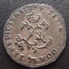 Photo numismatique  Monnaies Monnaies Royales Louis XV Double sol de billon de Béarn LOUIS XV, double sol de billon de Béarn 1744 vaquette, 2,01 grms, L4L.508 R5!! Bon TTB Très rare!