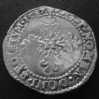 Photo numismatique  Monnaies Monnaies Royales Henri III 1/2 Franc au col plat, Demi Franc HENRI III, 1/2 Franc au col plat 1587 I Limoge, 6,85 grms, DY.1131, légèrement lustré sinon B à TB/TB+
