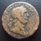 Photo numismatique  Monnaies Empire Romain TRAJAN, TRAJANUS, TRAIAN, TRAIANO Sesterce, sesterz, sestertius, sestertio TRAJAN, sesterce Rome 98-117, 33 mm, 24,63 grms B à TB