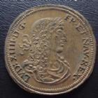 Photo numismatique  Monnaies Jetons Rechenpfennig Louis XIV Rechenpfennig, Louis XIV, jeton 28-29 mm, Cornelius Laufers, Nuremberg, Nurnberg 3,29 grms, TTB à SUPERBE/TTB
