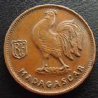 Photo numismatique  Monnaies Anciennes colonies Françaises Madagascar 50 centimes Madagascar MADAGASCAR Union Française, 50 centimes 1943, LEC.93 TTB+