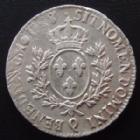 Photo numismatique  Monnaies Monnaies Royales Louis XVI Ecu aux branches d'olivier LOUIS XVI, ecu aux branches d'olivier 1(78)8 Q Perpignan, 29,39 grms, L4L.540 TTB
