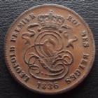 Photo numismatique  Monnaies Monnaies étrangères Belgique, Belgie, Belgien 2 centimes, Belgique Belgique, Belgie, Belgien, Leopold I, 2 centimes 1836, KM.19 /4.2, TTB+