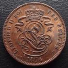 Photo numismatique  Monnaies Monnaies étrangères Belgique, Belgie, Belgien 2 centimes, Belgique Belgique, Belgie, Belgien, 2 centimes 1874, KM.35.1 SUPERBE