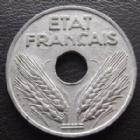 Photo numismatique  Monnaies Monnaies Françaises Etat Français 20 centimes zinc 20 centimes zinc 1944, etat Français, G.321 SUPERBE