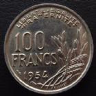 Photo numismatique  Monnaies Monnaies Françaises 4ème république 100 Francs 100 Francs Cochet 1954, G.897 SUPERBE à FDC