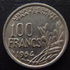 Photo numismatique  Monnaies Monnaies Françaises 4ème république 100 Francs 100 Francs Cochet 1954 B, G.897 SUPERBE+
