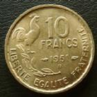 Photo numismatique  Monnaies Monnaies Françaises 4ème république 10 Francs 10 Francs Guiraud 1951 B, G.812 SUPERBE