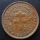 Photo numismatique  Monnaies Anciennes colonies Françaises Madagascar 1 franc Madagascar Madagascar, 1 franc 1942 SA Prétoria, LEC.94 TTB+