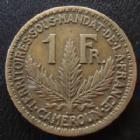 Photo numismatique  Monnaies Anciennes colonies Françaises Cameroun 1 Franc Cameroun, territoire sous mandat, 1 franc 1924, LEC.6 TTB+