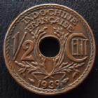 Photo numismatique  Monnaies Anciennes colonies Françaises Indochine 1/2 Centime Indochine Française, 1/2 centime 1939, LEC.31 SUPERBE