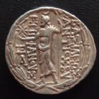 Photo numismatique  Monnaies Monnaies grecques Syrie, Antiochos VIII Epiphanes (grypos) Tetradrachme, Tetradrachm Syrie, Syria, Antiochos VIII Epiphanes (Grypos), tétradrachme 125-96 avant JC, 16,50 grms, SMA 365 presque SUPERBE
