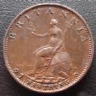 Photo numismatique  Monnaies Monnaies étrangères Grande Bretagne, Great Britain, Angleterre 1 Farthing Grande Bretagne, Great Britain, Georges III, farthing 1799, 6,37 grms, KM.646 TTB+