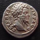 Photo numismatique  Monnaies Empire Romain SEPTIME SEVERE, SEPTIMUS SEVERUS, SEPTIMO SEVERO Denier, denar, denario, denarius SEPTIME SEVERE, SEPTIMIUS SEVERUS, denier Rome en 201, Fvndator Pacis, 3,46 grms, RIC 265 TTB+/TTB