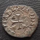 Photo numismatique  Monnaies Monnaies Royales Henri IV Vaquette du Béarn HENRI IV, Vaquette du Béarn 2e type, Morlaas, 0,53 grm, DY.1271 TB/TTB R!