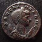 Photo numismatique  Monnaies Empire Romain SEVERINE, SEVERINA Antoninien, antoninianus, antoniniane SEVERINE, SEVERINA, femme d'Aurélien, antoninien Siscia en 275, Concordiae Militum SXXI, 21 mm, 4,14 grms, RIC 13 TTB à SUPERBE