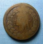 Photo numismatique  Monnaies Monnaies de la Révolution Directoire Décime surfrappé DIRECTOIRE, AN 5 / AN 8, surfrappe du 2 décimes, Gadoury 185 TB+ Rare!