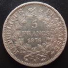 Photo numismatique  Monnaies Monnaies Françaises Troisième République 5 Francs 5 francs Hercule 1876 A Paris, G.745a TB+