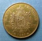 Photo numismatique  Monnaies Monnaies Françaises Second Empire 100 Francs or NAPOLEON III, 100 francs or, 1869 BB Strasbourg, Gadoury 1136 TTB