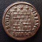 Photo numismatique  Monnaies Empire Romain CONSTANTIN I, CONSTANTINUS I, CONSTANTINO Follis, folles,  CONSTANTIN I, CONSTANTINUS I, follis Alexandrie en 325-326, Providentiae Avgg, SMALA, 18 mm, 2,99 grms, RIC 34 SUPERBE/TTB+