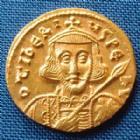 Photo numismatique  Monnaies Monnaies Byzantines Tibère III, Tiberius III Solidus TIBERE III, TIBERIUS III, solidus 698-705, solidus Constantinople, Sear 1360, 4,50 grms, SUPERBE+