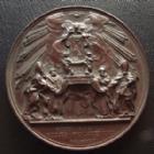 Photo numismatique  Monnaies Médailles Etrangères Vatican, papal states Médaille bronze VATICAN, PIE IX, PIUS IX, médaille 43,2 mm par Bianchi F., Fidei Regula Eccles Fundamentum, 33,67 grms, SUPERBE+