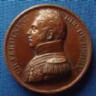 Photo numismatique  Monnaies Médailles Duc de Berry Medaille, Medaillen, Medals Duc de Berry, assassinat du Duc de Berry , médaille 41 mm, Gayrad F. / De Puymaurin Fecit et Dir., 39,01 grms, SUPERBE +
