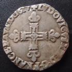 Photo numismatique  Monnaies Monnaies Royales Louis XIII 1/4 d'Ecu à la croix fleurdelisée LOUIS XIII, 1/4 d'ecu frappé au marteau, 1617 L Bayonne, 9,44 grms, L4L.16 Bon TTB