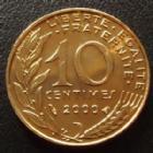 Photo numismatique  Monnaies Monnaies Françaises Cinquième république 10 Centimes 10 Centimes Lagriffoul 2000, G.293 BU