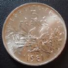 Photo numismatique  Monnaies Monnaies Françaises Cinquième république 5 Francs 5 Francs semeuse de Roty 1981, G.771 FDC