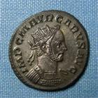 Photo numismatique  Monnaies Empire Romain CARUS, CARO Antoninien, antoninianus, antoniniane CARUS, antoninien, Lyon en 282, Cohen 99 TTB+/TTB