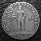 Photo numismatique  Monnaies Allemagne avant 1871 Allemagne, Deutschland, Brunswick Luneburg Calenberg hannover 1/6 Thaler, 1/6 taler BRAUNSCHWEIG LUNEBERG CALENBERG HANNOVER, 1/6e thaler 1800, Welter 2844, TTB