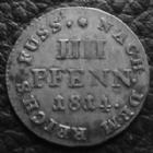 Photo numismatique  Monnaies Allemagne avant 1871 Allemagne, Deutschland, Brunswick Luneburg Calenberg hannover 4 Pfennig BRAUNSCHWEIG CALENBERG HANNOVER, 4 pfennig 1814 C, 0,93 grlm J.3a TTB+ Rare!!