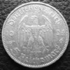 Photo numismatique  Monnaies Allemagne après 1871 allemagne, deutschland, germany, dritte reich, 3 em reich 5 Mark 5 Mark Kirche 1934 A, J.360 TTB