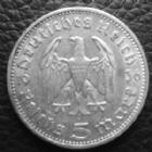 Photo numismatique  Monnaies Allemagne après 1871 allemagne, deutschland, germany, dritte reich, 3 em reich  5 mark Hindenburg 5 Mark Hindenburg 1936 A, J.360 TTB