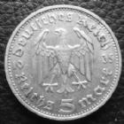 Photo numismatique  Monnaies Allemagne après 1871 allemagne, deutschland, germany, dritte reich, 3 em reich  5 mark Hindenburg 5 Mark Hindenburg 1935 D, J.360 TTB