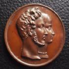 Photo numismatique  Monnaies Médailles Duc d'Orleans Médaille en cuivre Duc d'Orléans, sous Louis Philippe, mariage du Duc avec Hélène 1837, Montagny F., medaille 41 mm, 32,99 grms, SUPERBE