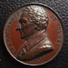 Photo numismatique  Monnaies Médailles Personnages célèbres Médaille CHASSEBOEUF DE VOLNEY, né à Craon en 1757 mort en 1820, par Caqué F., médaille 41 mm, SUPERBE+