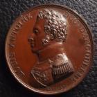 Photo numismatique  Monnaies Médailles Angoulème  LOUIS ANTOINE Duc d'Angoulme,10 avril 1818, médaille signé Gayrad, 40 mm, 35,13 grms, petits coups sinon SUPERBE