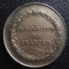 Photo numismatique  Monnaies Médailles Révolution 1789 Médaille CONFEDERATION DES Français, médaille de 40 mm, 1790, 27,70 grms, TTB