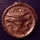 Photo numismatique  Monnaies Monnaies Gauloises Remi, Rèmes Potin au Bucrâne REMES, REMI, région de Reims, 1e siècle avant JC, potin au bucrâne, 3,85 grms, DT.221 TTB