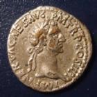 Photo numismatique  Monnaies Empire Romain NERVA Denier, denar, denario, denarius NERVA, denier Rome en 96-98, PONT MAX TR POT COS II, 2,76 grms, RIC 17 TB à TTB