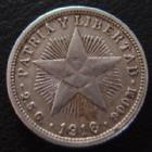 Photo numismatique  Monnaies Monnaies étrangères Cuba Diez centavos, 10 centavos CUBA, diez centavos 1916, KM A.12 TTB