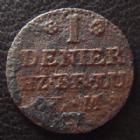 Photo numismatique  Monnaies Allemagne avant 1871 Allemagne, Deutschland, Braunschweig Wolfenbuttel 13 einem mattier, denier BRAUNSCHWEIG WOLFENBUTTEL, 13 einem mattier, denier 1758, welter 2778 B à TB