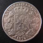 Photo numismatique  Monnaies Monnaies étrangères Belgique, Belgie, Belgien 5 Francs Belgique, Belgie, Belgien, Leopold II, 5 francs 1873, KM.24 TB à TTB