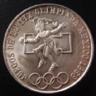 Photo numismatique  Monnaies Monnaies étrangères Mexique, Mexico, Mexican 25 Pesos Mexique, Mexico, 25 pesos 1968, jeux olympique, traces de nettoyage sinon TTB+